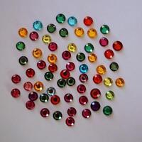 Strass Rond à Coller   Multicolore : Lot de 100 - Choix de Diamètre