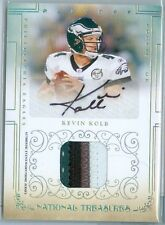 2007 NATIONAL TREASURES (FB) Kevin Kolb SSP AUTO/4-COLOR PATCH RC CARD #'d 12/25