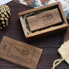 Personalised Laser Engraved Wooden USB memory stick 32GB wedding photography