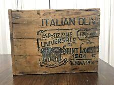 Antique Medaglia D' Oro Coffee Wood Crate 1904 World's Fair 1914 Genoa Expo