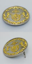 Mexican Eagle Cachas Mexico 1911 Colt Rampant Western Belt Buckle Nickel Gold