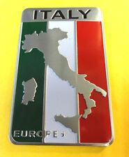 Aluminio cepillado Italia Europa Mapa de bandera italiana Insignia