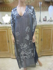 Johnny Was 4 Love & Liberty Isabelle Burnout Maxi kaftan cover-up NWT S/M $234