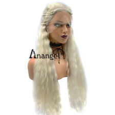 Anogol Blonde Lace Front Wig Game of Thrones Daenerys Targaryen Cosplay Wigs