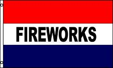 FIREWORKS Red White and Blue Flag 3 x5 Polyester