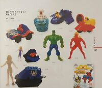 McDonalds Happy Meal Toy 1996 Marvel Super Heroes (USA) - Various Figures
