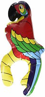 ** INFLATABLE PIRATES PARROT 28CM NEW ** SITS ON SHOULDER FANCY DRESS PARTY KIDS