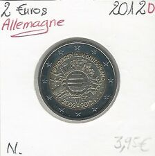 2 Euros - ALLEMAGNE - 2012 - Lettre: D // Qualité: Neuve (10 ans de circulation)