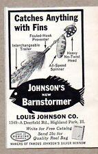 1960 Print Ad Johnson Barnstormer Fishing Lures Highland Park,IL
