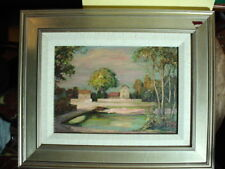 JAN NOSEK Listed Lenox ARTIST Canal near NEWHOPE PA.  Impressionist PAINTING