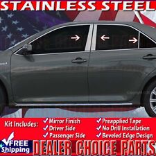 2012 2013 2014 TOYOTA CAMRY Pillar Posts Trims Covers 6 Pc Stainless Steel
