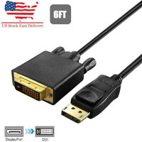 Display port to Dvi Cable 1080P Displayport to Dvi Cord 6/10/15ft for HP, Dell