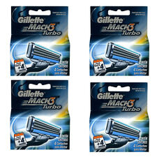 16 Gillette Mach3 Mach 3 Turbo Razor Blade Refill Cartridges
