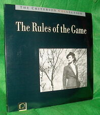 LD Laserdisc FRENCH classic THE RULES OF THE GAME Jean Renoir CAV  Criterion #50