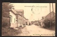 FIENVILLERS (80) COMMERCE Café & MAIRIE Route de CANDAS en 1931