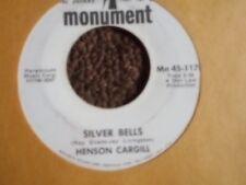 "HENSON CARGILL ""SILVER BELLS""  / ""LITTLE DRUMMER BOY""  7"" 45 CHRISTMAS COUNTRY"