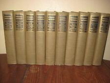 1st Edition thus WORKS OF NATHANIEL HAWTHORNE 10V Set COMPLETE Fiction NOVELS