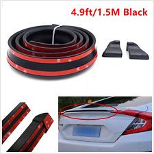 1.5M Black Flexible Durable Car Rear Roof Lip Spoiler Lip Wing Trim Sticker Kits