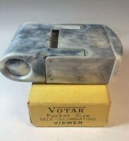Vtg. Bakelite Votar Folding Pocket Size Self Illuminating Viewer Original & Box