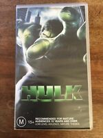 Retro Vintage Collectable VHS Movie Tape Marvel Hulk Eric Bana 2003 M15+
