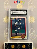 1983 Donruss Rickey Henderson #35 - 9 MINT GMA Graded Baseball Card