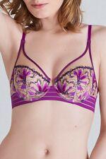 SIMONE PERELE JAIPUR 14E / 36E Full Plunge Bra Sz 4 Shorty Lilac Orchid Rrp $200