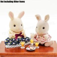 Mango Juice & Pudding Glass Cup Set Dollhouse Miniature 1:12 Food Drinks Decor