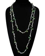 "Necklace Strand of Cultured Pearls Multi-Colors Green Blue 62"" - $150 Retail"