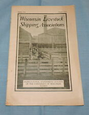 1920 Wisconsin Livestock Shipping Assoc. Booklet - C2818