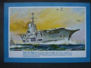 Unused J Salmon Colour Post Card H.M.S. Ark Royal