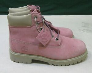 PINK Timberland 6In Prem Bt Boots Junior's Shoes  size youth   2