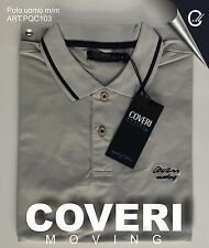 Polo Uomo Manica corta Coveri Moving 100 cotone Jersey Estate 2017 XL Ocra