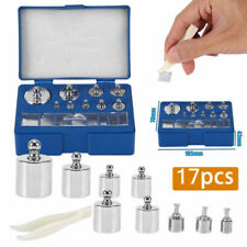 17Pcs 211.1g 10mg-100g Grams Precision Calibration Weight Digital Set Scale Us