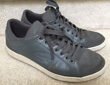 Lacoste Nistos NK SPM USA LTH/TXT GRAY Classic Leather Casual Sneakers Low 12