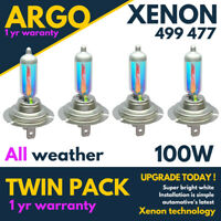 H7 Xenon White 100w Car All Weather 477 Halogen 499 Headlight Light Bulbs 12v 4x