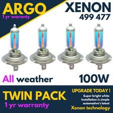 H7 Xenon White 100w Car All Weather 477 Halogen 499 Headlight Light Bulbs 12v 4x