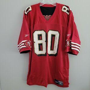 VTG Reebok San Francisco 49ers Jerry Rice 80 Black Red Reversible Jersey 48 XL