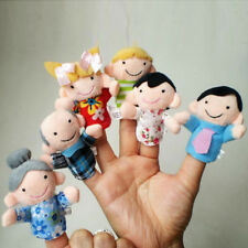 6Pcs Family Finger Puppets Cloth Doll Baby Educational Hand Toy Story Kid A#S