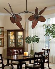 Fanimation Caruso Indoor/Outdoor Damp rated Ceiling Fan with bamboo blades