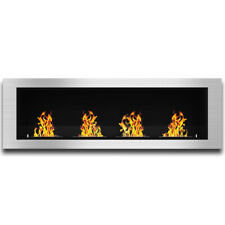 "Regal Charlotte 64"" Ventless Built In Recessed Ethanol Wall Mounted Fireplace"