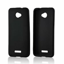 Silicone Skin Case for HTC Droid DNA 6435 - Black