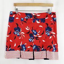 Colorful Red White Blue Izod Golf Skort size 12 polka dots floral