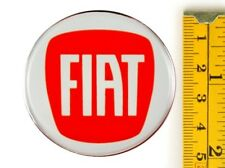 "FIAT *4 x NEW* RED Emblems 50mm (2"") WHEEL CENTER CAP STICKERS 3D DECALS"