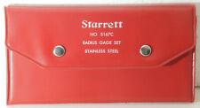 Starrett Radius Gage Set No S167c 24 Gages Stamped The Ls Starrett Co 167