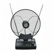 Antena de interior de TV TDT UHF VHF FM Hasta 44dB, Amplificador Incorporado