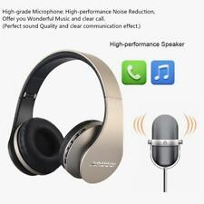 Foldable Wireless Bluetooth Headphone Earphone Headset Handsfree Mp3 SD FM R9t9 Gold