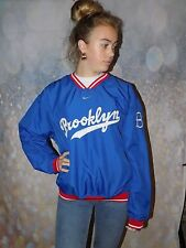 Vintage blue white red Nike Brooklyn baseball drill top cooperstown collection