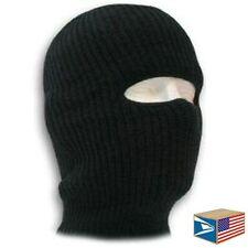SKI MASK Black 1 HOLE BALACLAVA HAT COLD WINTER ARMY TACTICAL KNIT BEANIE CAP!