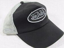 NEW GENUINE Von Dutch Mesh Trucker Biker Snapback Hat Cap Adjustable  BLACK GREY