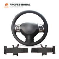 Black Real Leather Steering Wheel Cover for Mitsubishi Lancer EX Outlander ASX
